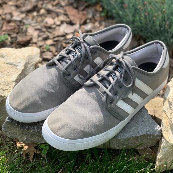 adidas Shoes   Adidas Grey White Canvas